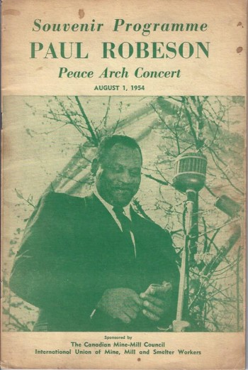 Image for Souvenir Programme Paul Robeson Peace Arch Concert, August 1, 1954
