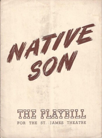 Image for Native Son, Program for Orson Welles Production, 1941