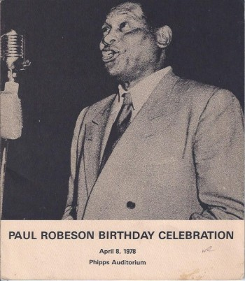 Image for Paul Robeson Birthday Celebration, April 8, 1978, Program