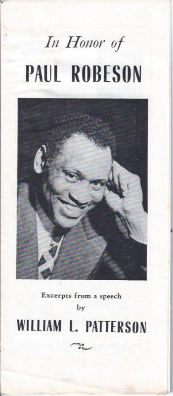 Image for In Honor of Paul Robeson: Excerpts from a Speech by William L. Patterson