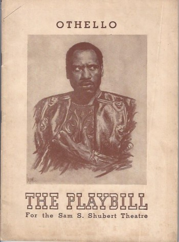 Image for Othello, The Moor of Venice, The Playbill Program, Sam S. Shubert Theatre, 1943