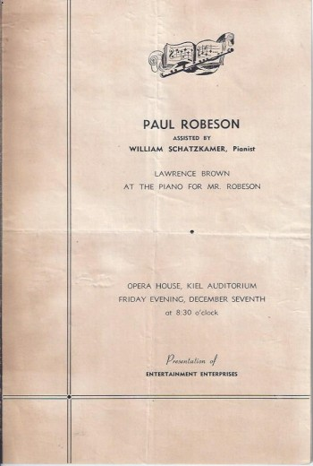 Image for Program, Paul Robeson and Lawrence Brown in a Soul Stirring Concert of Negro Music