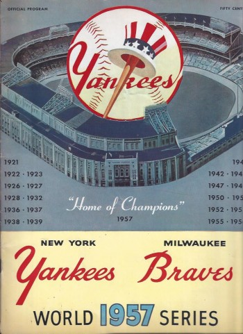 Image for 1957 World Series Program, New York Yankees vs. Milwaukee