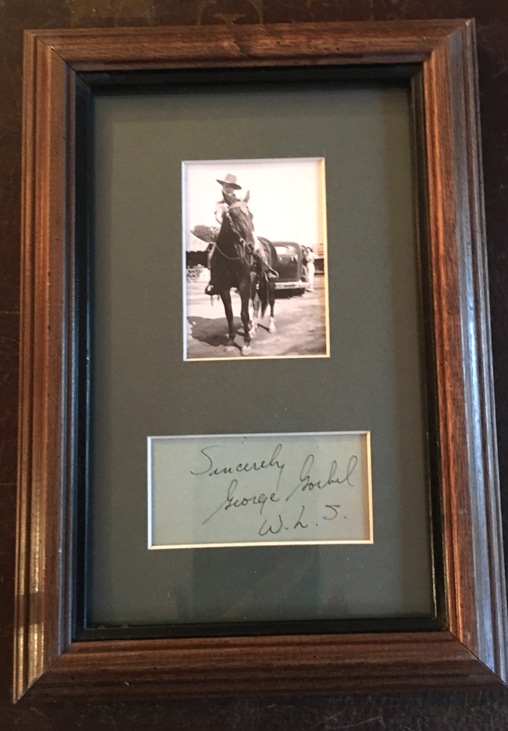 Image for George Gobel, Autograph Matted with Photograph
