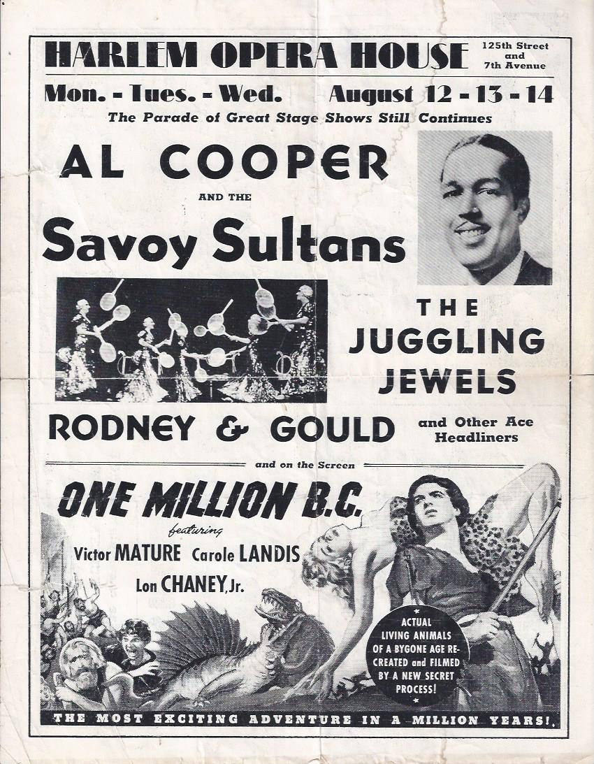 Image for Al Cooper and the Savoy Sultans at the Harlem Opera House
