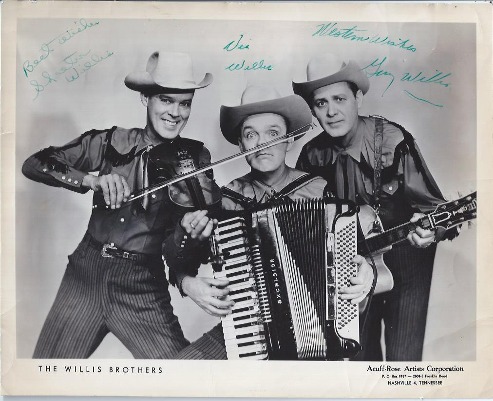 Image for The Willis Brothers, Autographed Publicity Photograph and Three other Photographs