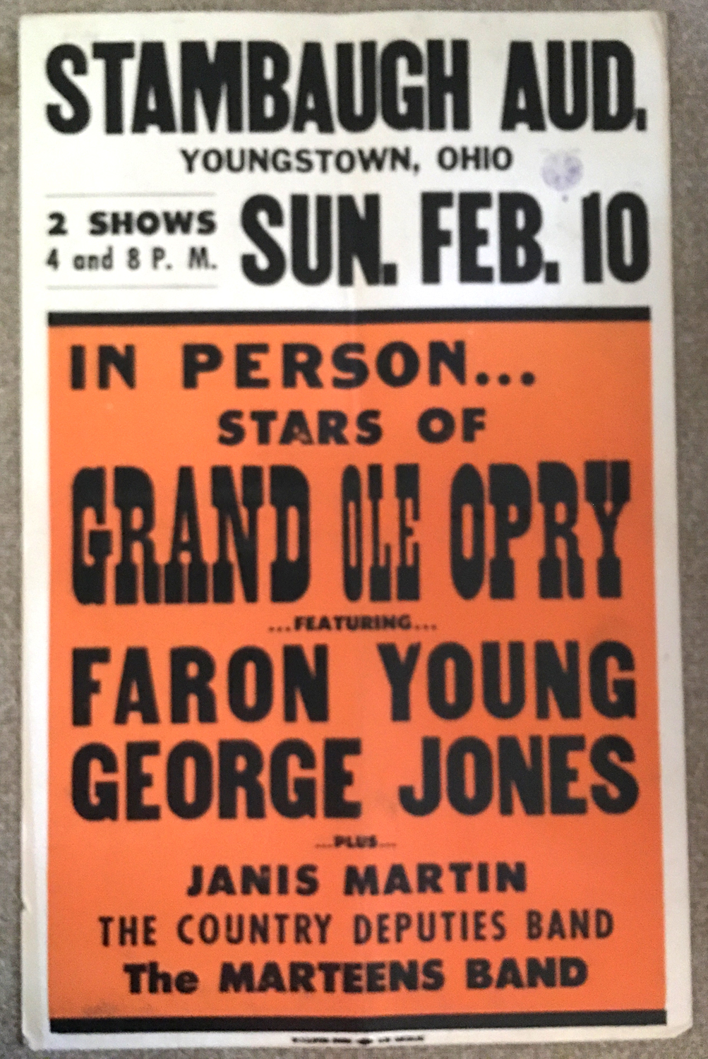 Image for Faron Young & George Jones, 1957, Country and Western Concert Poster