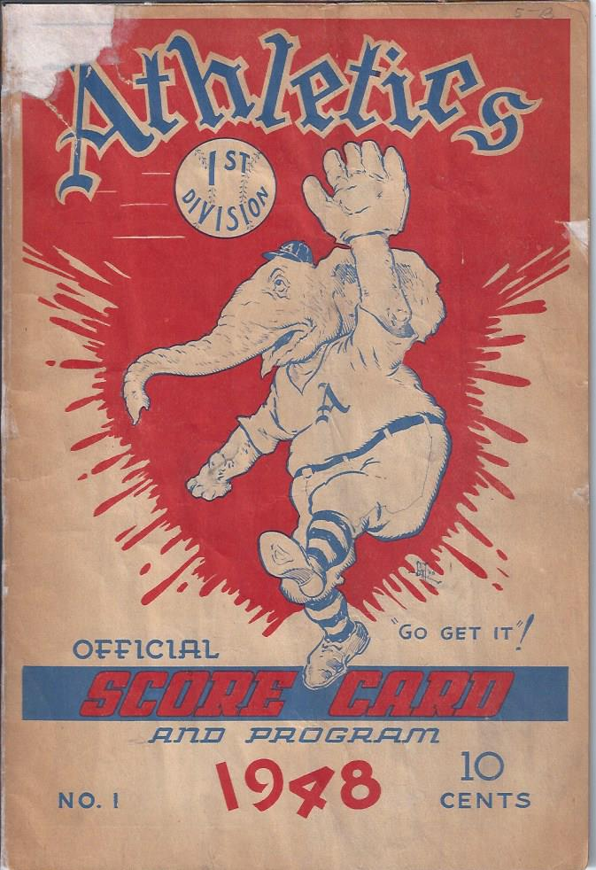 Image for Athletics Official Score Card and Program, 1948