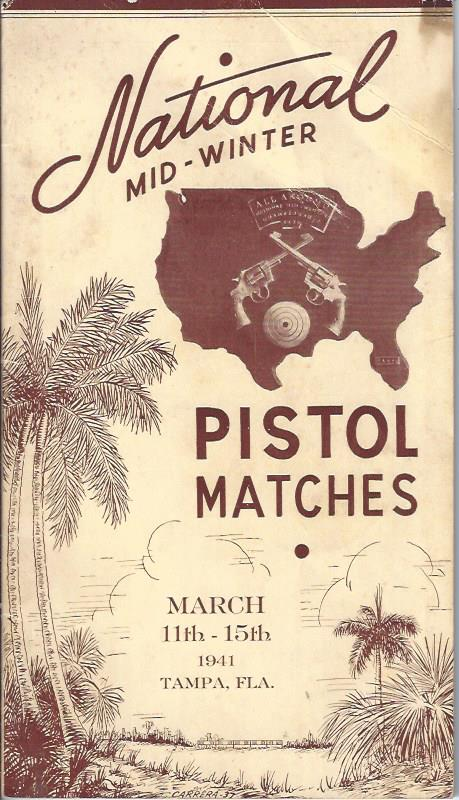 Image for National Mid-Winter Pistol Matches, Program 1941
