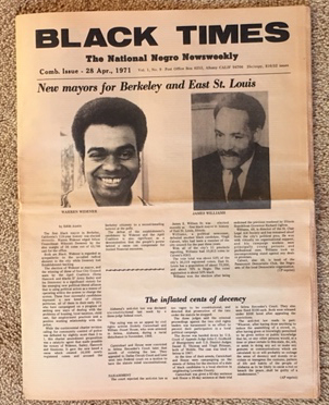 Image for Black Times: The National Negro Newsweekly, Vol. 1 No. 9, 23 April 1971