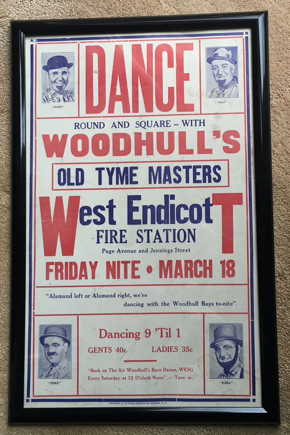 Image for Woodhull's Old Tyme Masters, Poster
