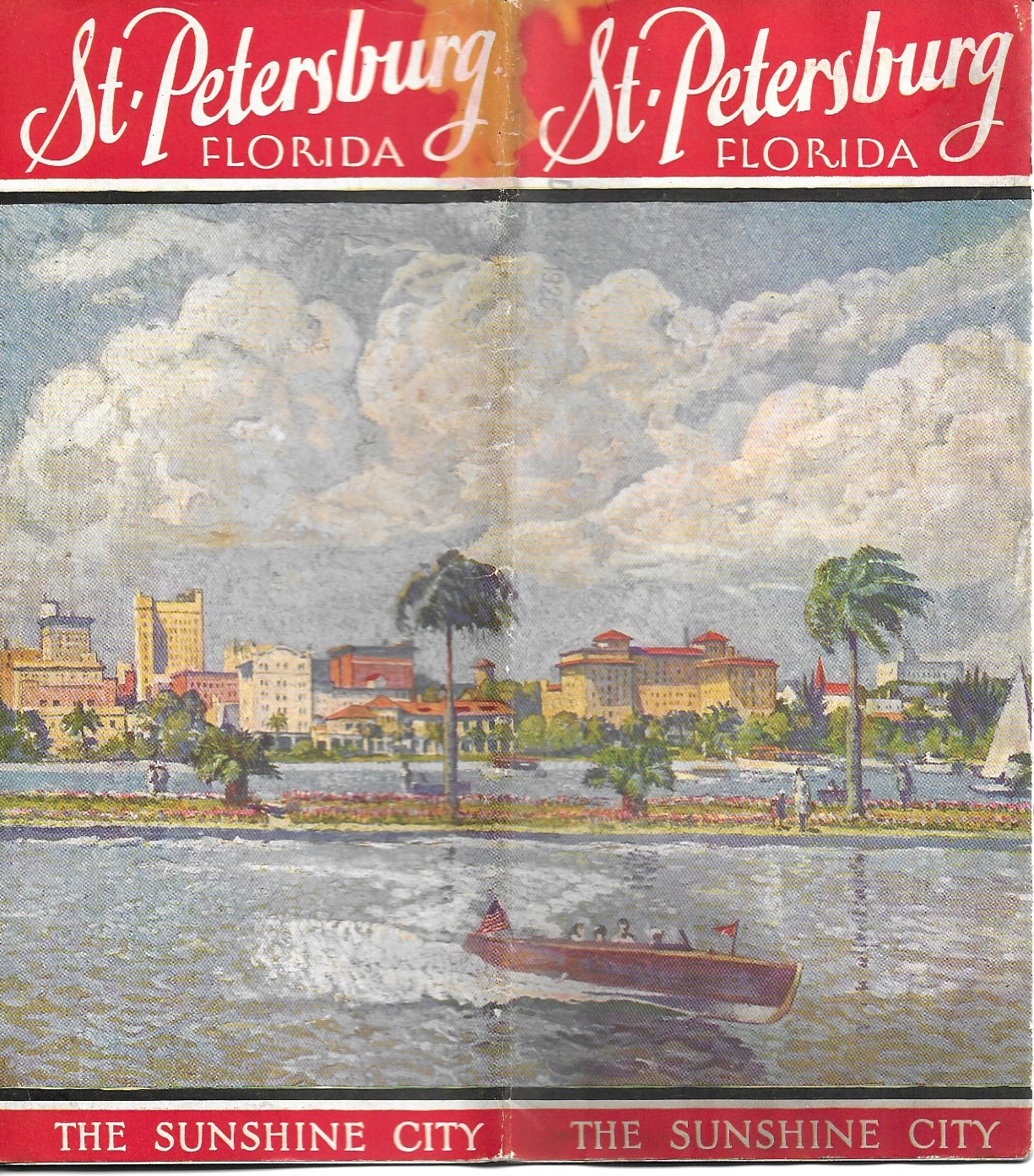 Image for St. Petersberg Florida, The Sunshine City, Tourist Brochure, 1926