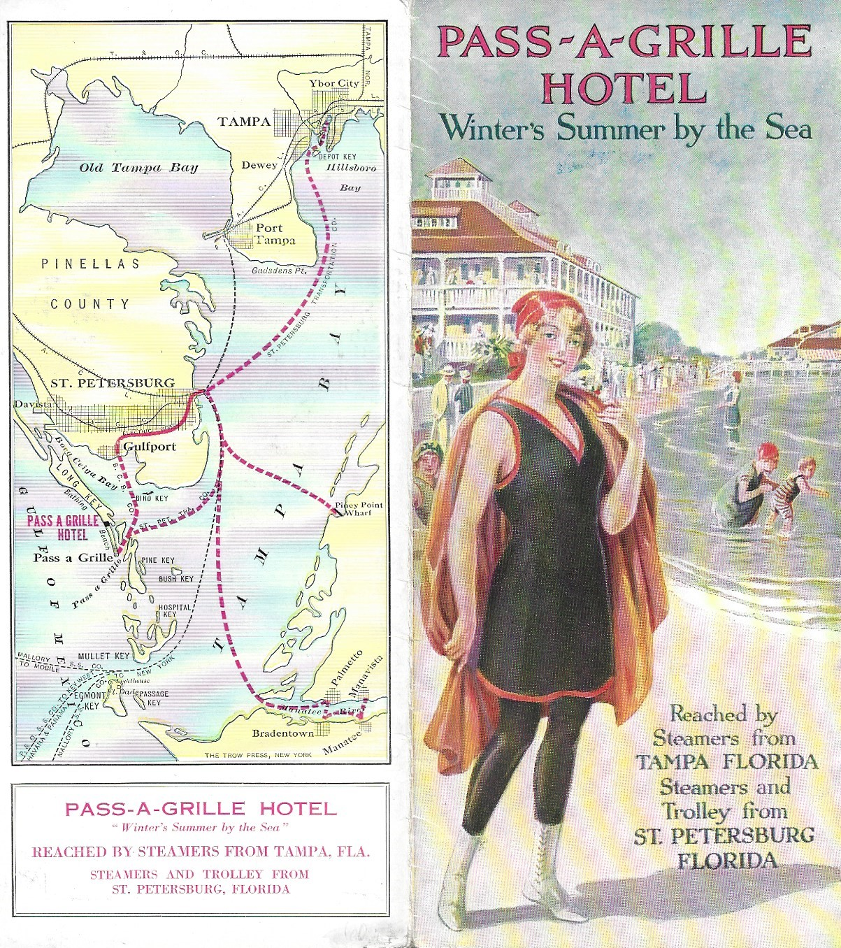 Image for Pass-A-Grille Hotel, Winter's Summer by the Sea, Tourism Brochure, 1920's