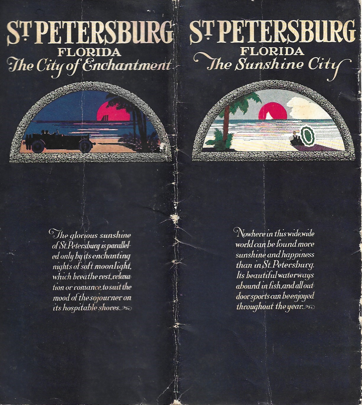 Image for St. Petersburg Florida, The Sunshine City, Tourism Brochure, 1925