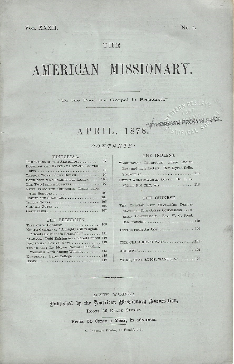 Image for The American Missionary, April 1878