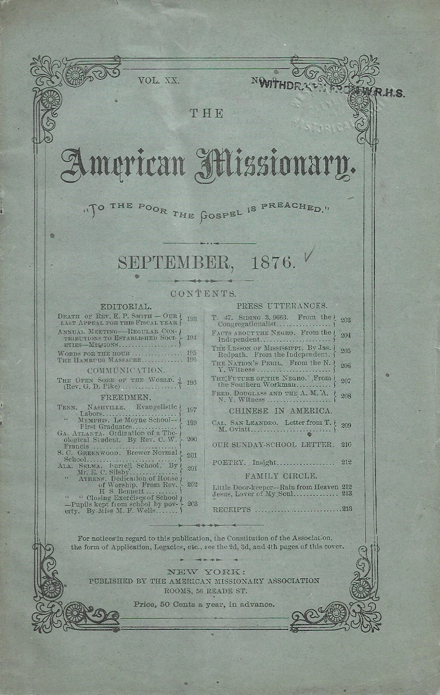 Image for The American Missionary, September 1876