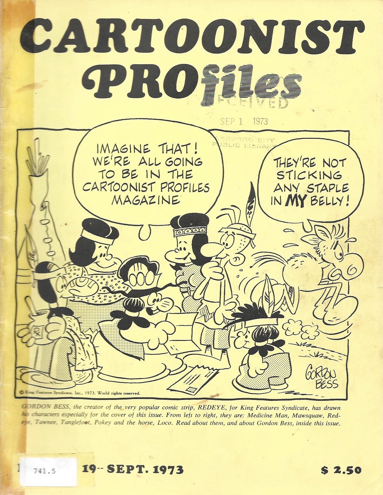 Image for Cartoonist Profiles Sept. 1973