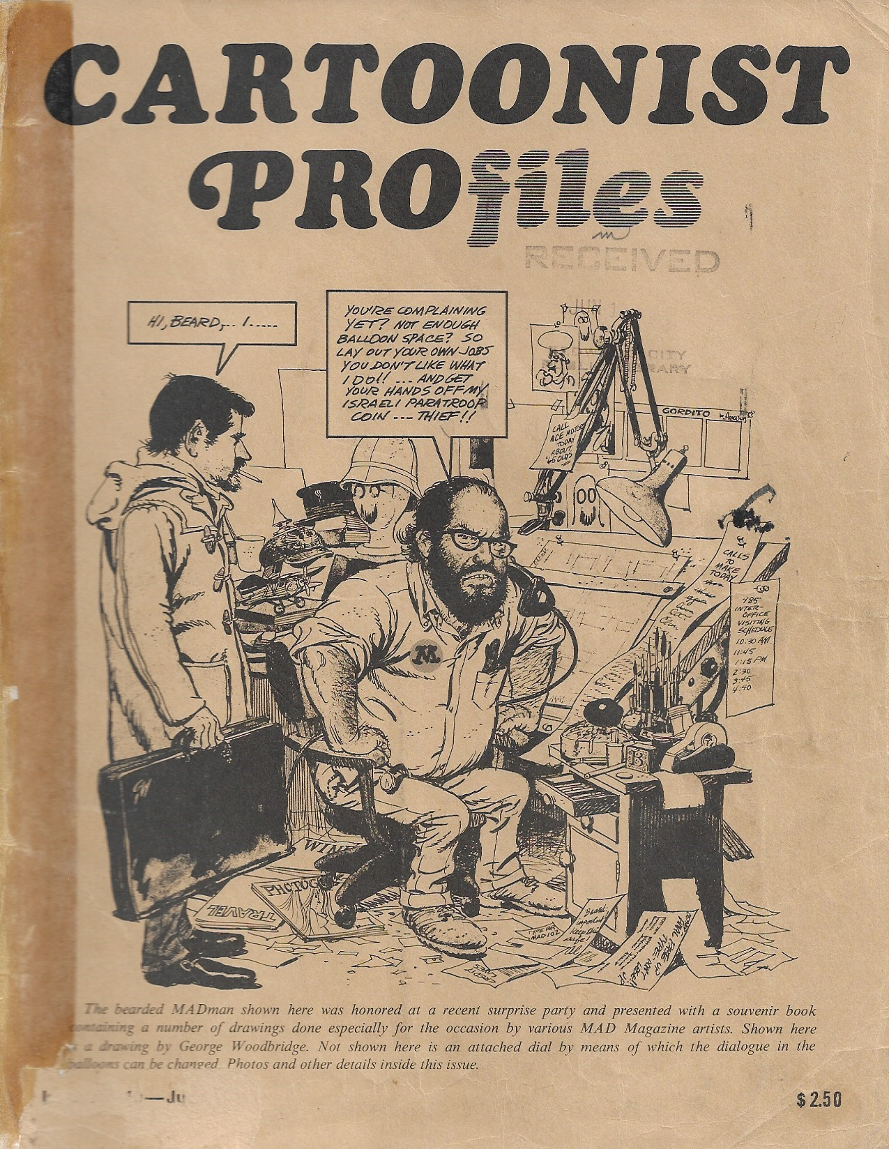 Image for Cartoonist Profiles June 1971