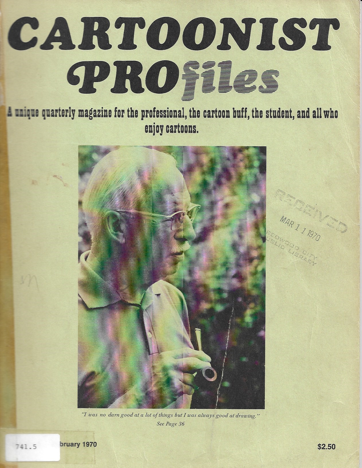 Image for Cartoonist Profiles February 1970