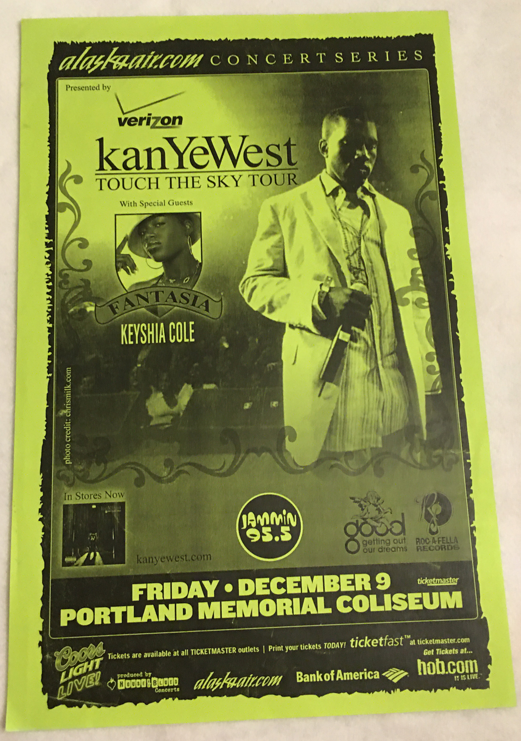 Image for Kanye West, Touch The Sky Tour Poster, Portland Oregon