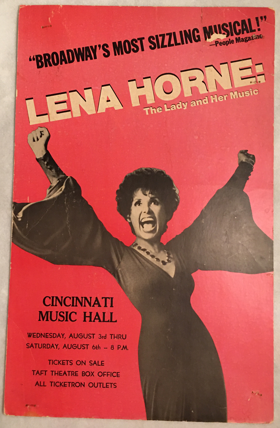Image for Lena Horne: The Lady and Her Music, Poster, Cincinnati Music Hall