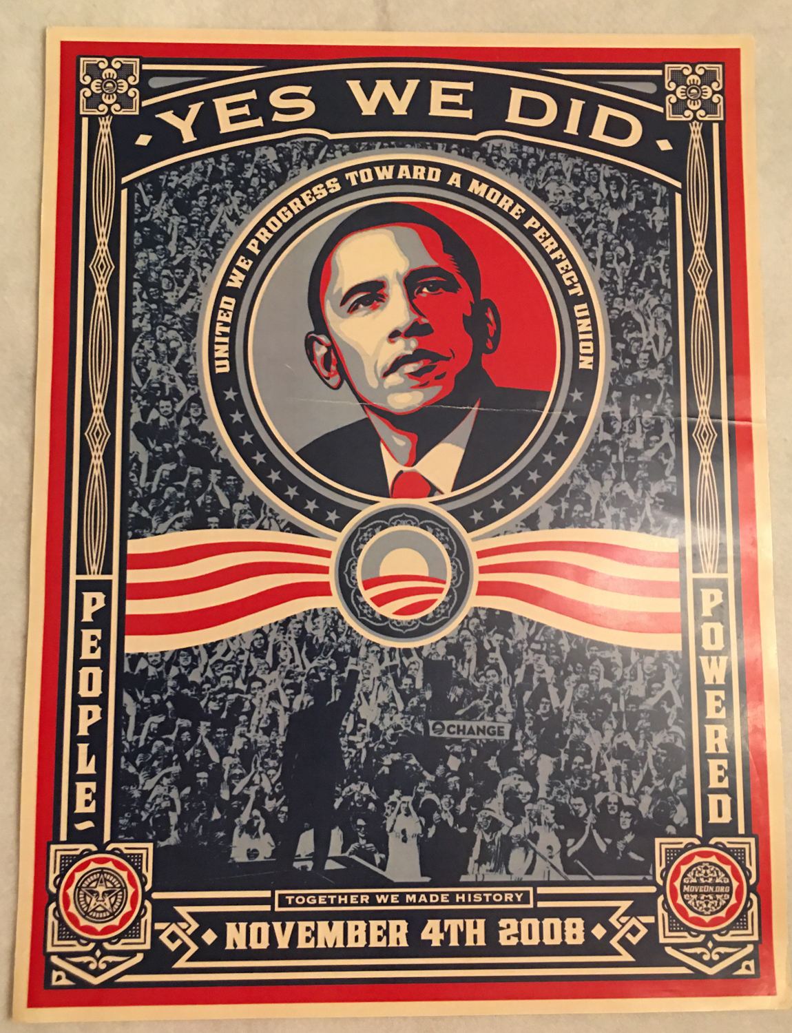"Image for Barack Obama, ""Yes We Did"" Poster, 2008"