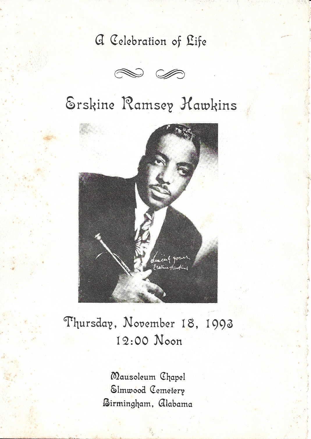 Image for Erskine Hawkins, Autographed Photograph and Small Archive