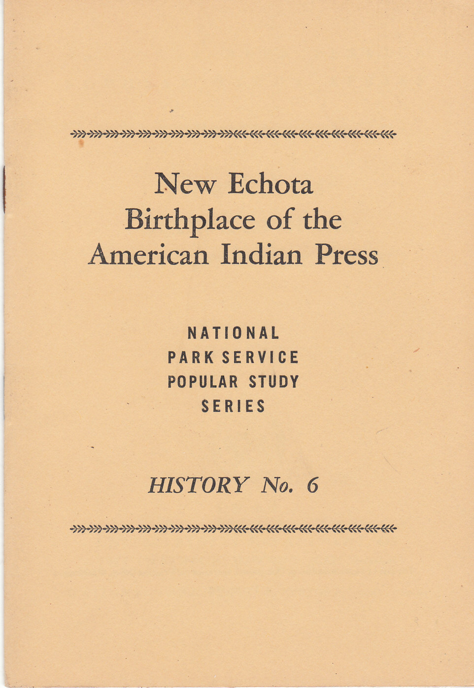 Image for New Echota Birthplace of the American Indian Press