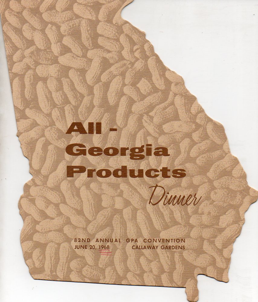 Image for All-Georgia Products Dinner 82nd Annual GPA Convention June 20, 1968, Callaway Gardens