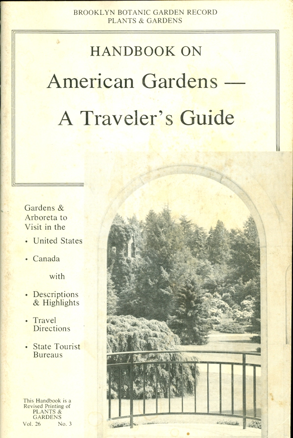 Image for Handbook on American Gardens -- a Traveler's Guide