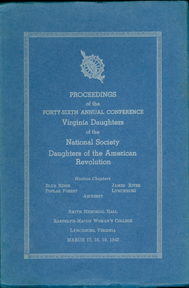 Image for Proceedings of the Forty-Sixth Annual Conference Virginia Daughters of the National Society Daughters of the American Revoluion