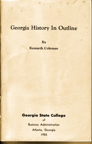 Georgia History in Outline