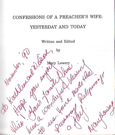 Image for Confessions of a Preacher's Wife : Yesterday & Today