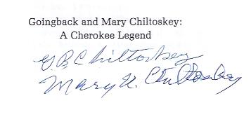 Image for The Artist and the Storyteller Goingback and Mary Chiltoskey: a Cherokee Legend