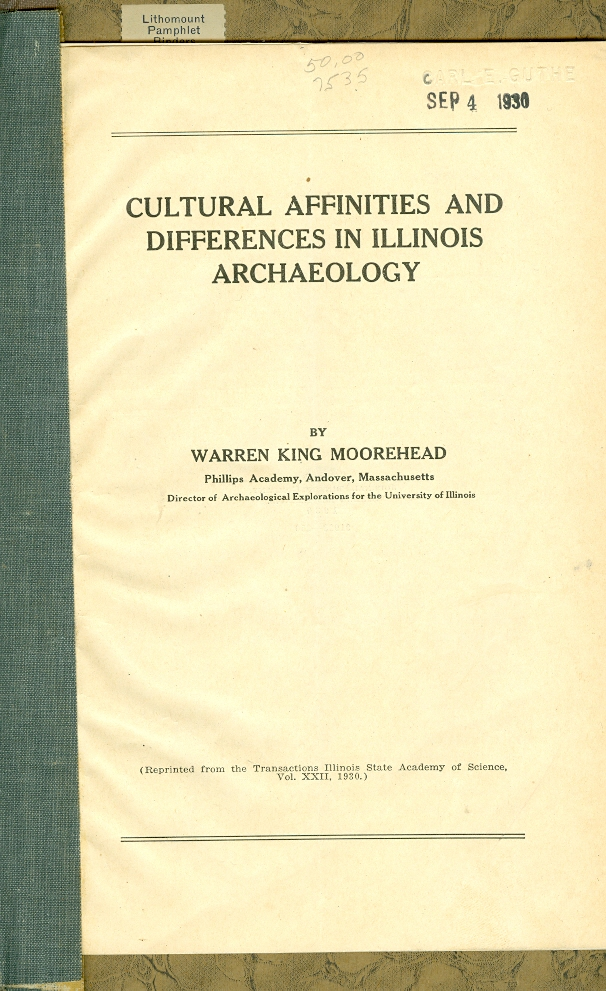 Image for Cultural Afinities and Differences in Illinois Archaeology