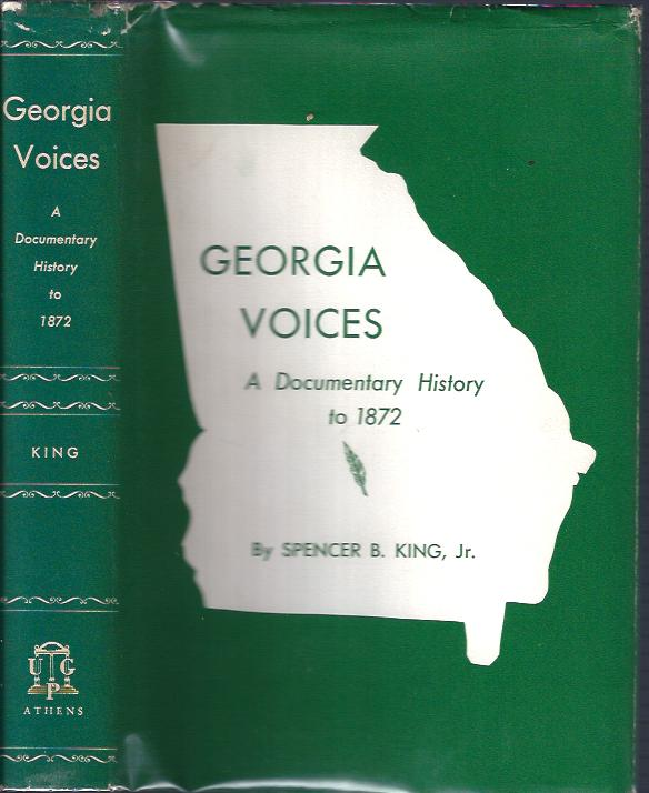 Image for Georgia Voices:  A Documentary History to 1872