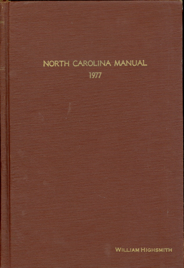 Image for North Carolina Manual 1977
