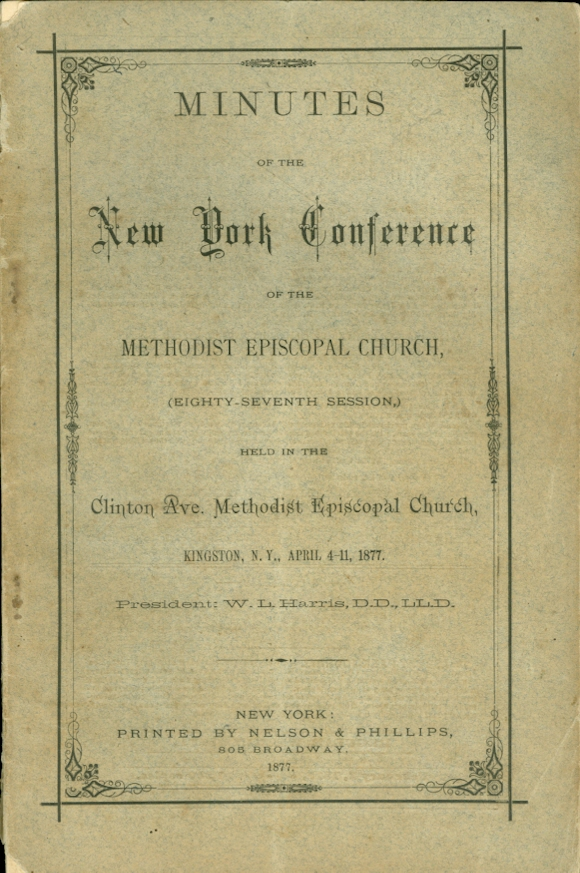 Image for Minutes of the New York Conference of the Methodist Episcopal Church