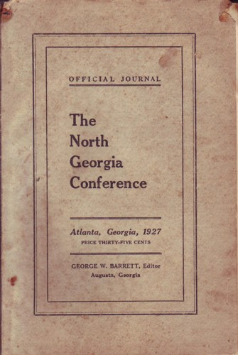 Image for Official Journal North Georgia Conference of the Methodist Episcopal Church, South, 1927