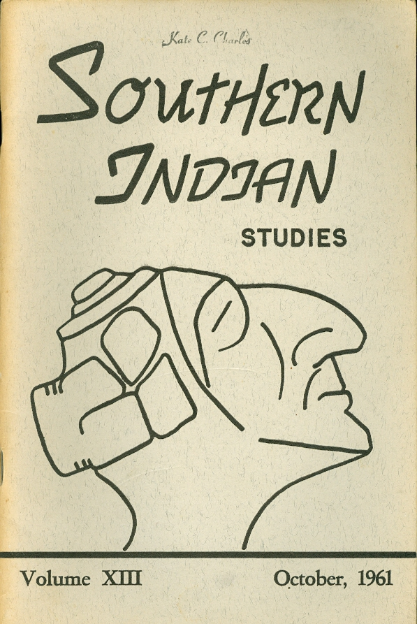 Image for Southern Indian Studies:  October 1961