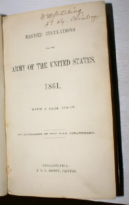 Image for Revised Regulations for the Army of the United States, 1861 By Authority of the War Department