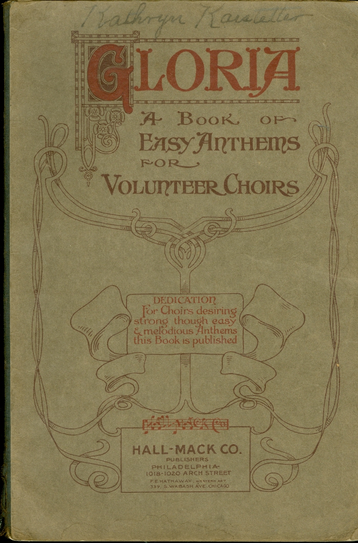 Image for Gloria: a Book of Easy Anthems for Volunteer Choirs