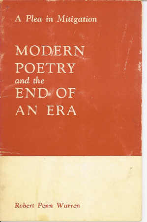 Image for Modern Poetry and the End of an Era A Plea in Mitigation