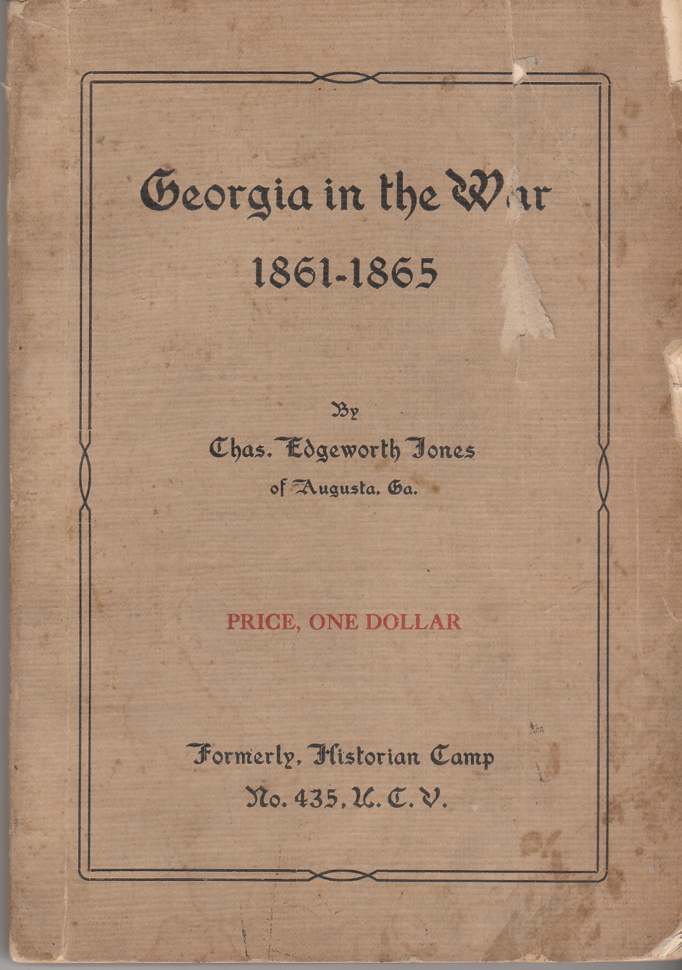 Image for Georgia in the War 1861 - 1865