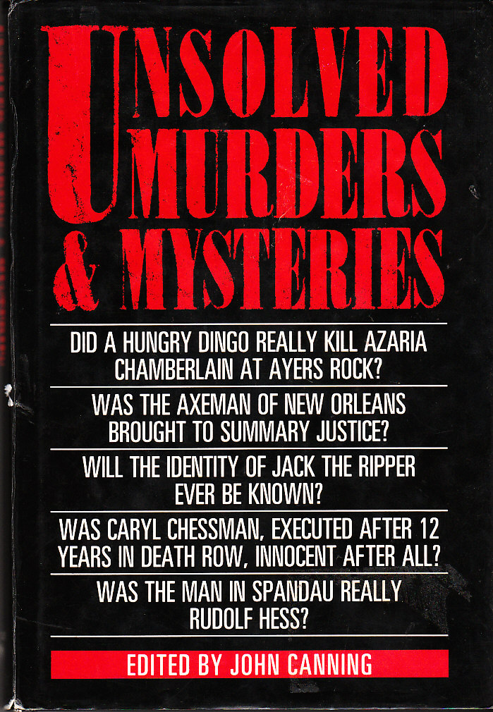Image for Unsolved Murders and Mysteries