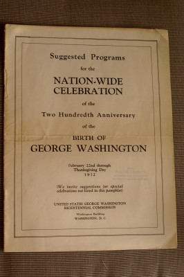 Image for Suggested Programs for the Nationwide Celebration of the Two Hundredth Anniversary of the Birth of George Washington:  February 22 through Thanksgiving Day 1932