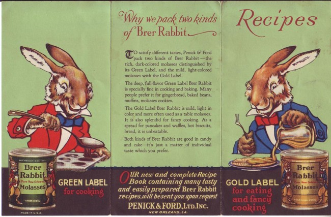 Image for Brer Rabbit Molasses Ad