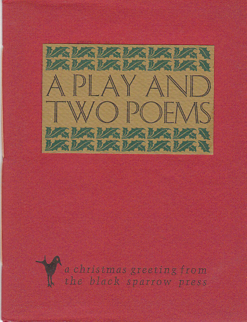 Image for A Play and Two Poems