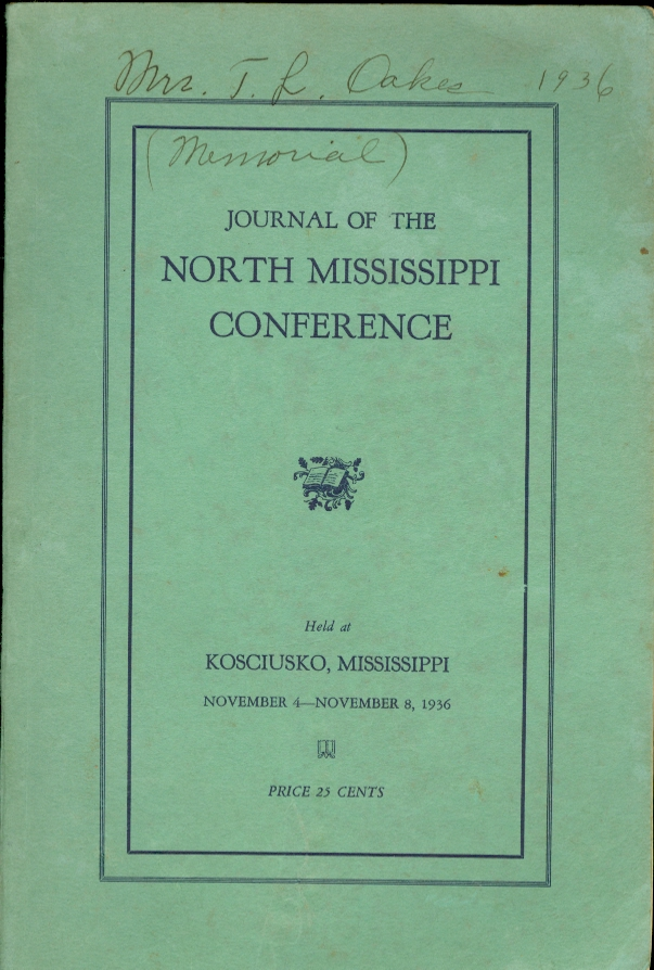 Image for Journal of the North Mississippi Conference