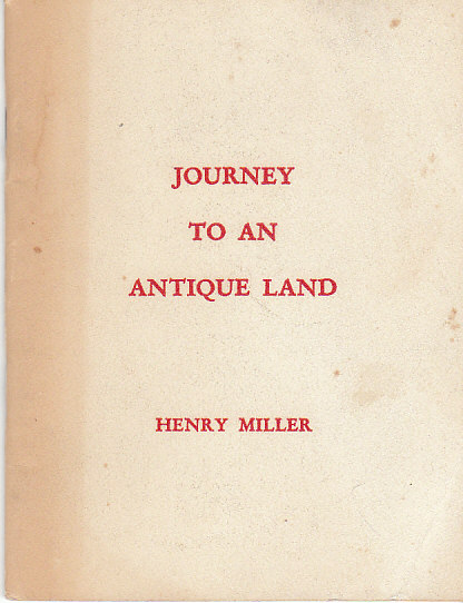 Image for Journey to an Antique Land